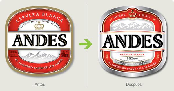 cerveza andes rediseño