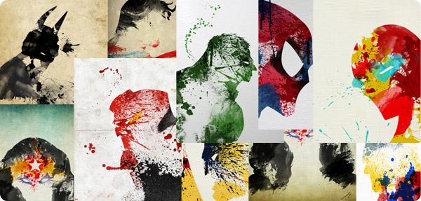 superheroes dibujados
