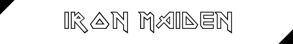 tipografia iron maiden