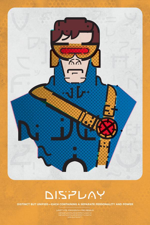 superheroes tipografias