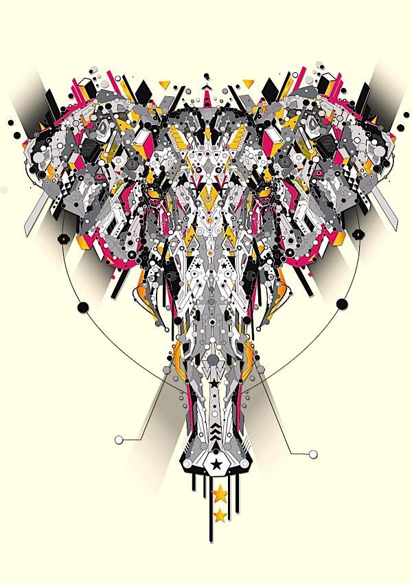 ilustraciones animales tecnológicos