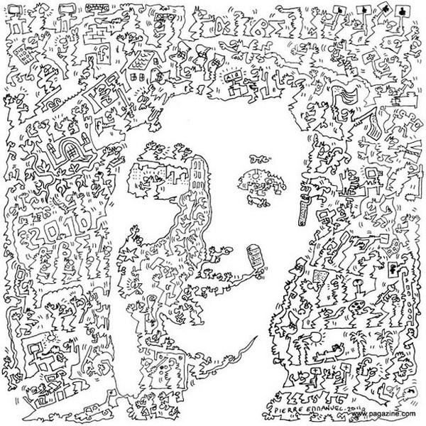 retratos con lineas