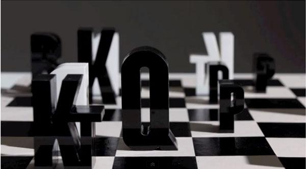 ajedrez tipografico