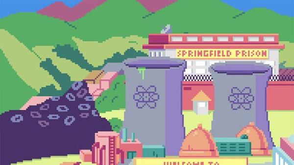 Los Simpsons en versión 8 bits